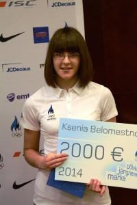 Ksenia Belomestnova valiti EOK järelkasvutiimi